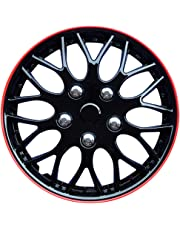 Autostyle KT970-IB Plus R Set Missouri Ice Negro/Red Rim - Tapacubos (