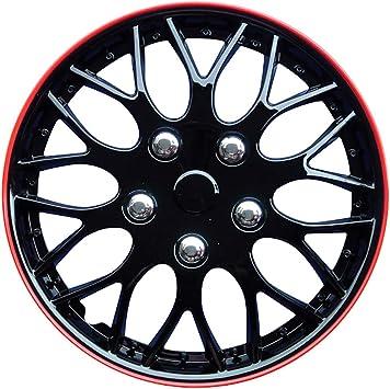 Satz Radzierblenden Missouri 16 Zoll Schwarz Rot Unrandet Auto