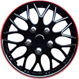 Autostyle KT970-IB Plus R Set Missouri Ice Negro/Red Rim - Tapacubos (