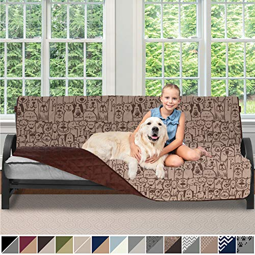Sofa Shield Original Patent Pending Reversible Futon Slipcover, Dogs, 2