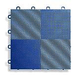 BlockTile B2US4530 Deck and Patio Flooring Interlocking Tiles Perforated Pack, Blue, 30-Pack