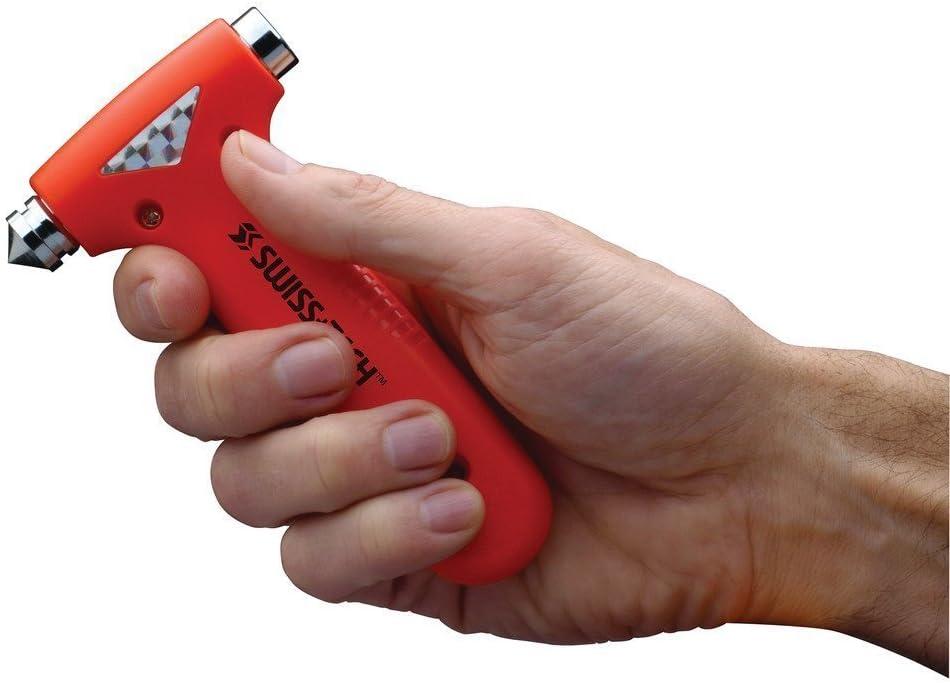 Romote ST85100 Orange 3-en-1 BodyGuard Auto Martillo de salida de emergencia de herramientas con interruptor de vidrio: Amazon.es: Hogar