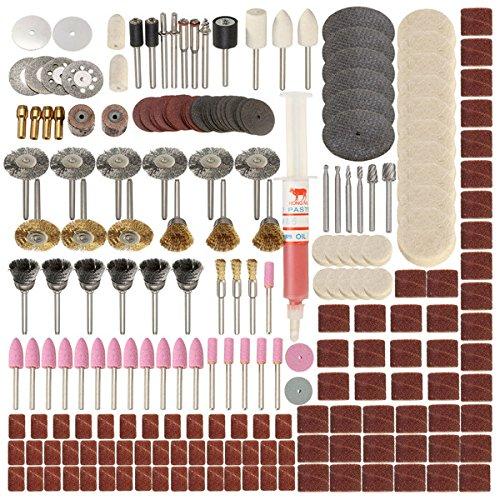 Kamas 217pcs Rotary Tool Accessories Set for Dremel Grinding Sanding Polishing Tool