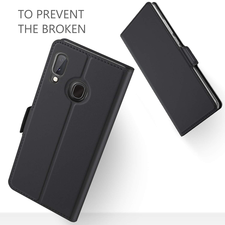 GEEMAI Dise/ño para Samsung Galaxy A20e funda Protectora PU Funda Multi-/ángulo a Prueba de Golpes y Polvo a Prueba de Silicona con Soporte Plegable apto para Samsung Galaxy A20e Smartphone. Oro rosa