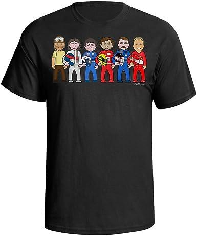 VIPWees Camisa de Regalo para Caricatura de Coche Fórmula 1 Legends Hombre: Amazon.es: Ropa y accesorios