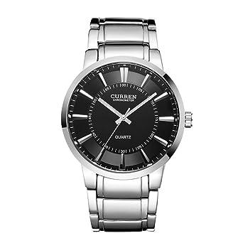 Relojes militares de lujo de la marca de fábrica superior para hombres Reloj deportivo de moda de los hombres de la marca de moda negro grande: Amazon.es: ...