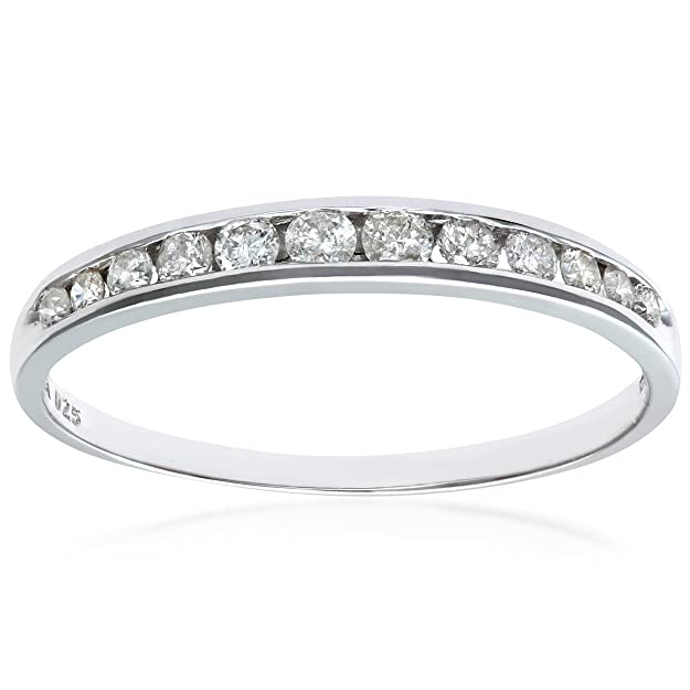 412db8f44 Naava Bague Femme - Or Blanc 375/1000 (9 Cts) 1.05 Gr - Diamant 0.02 ...