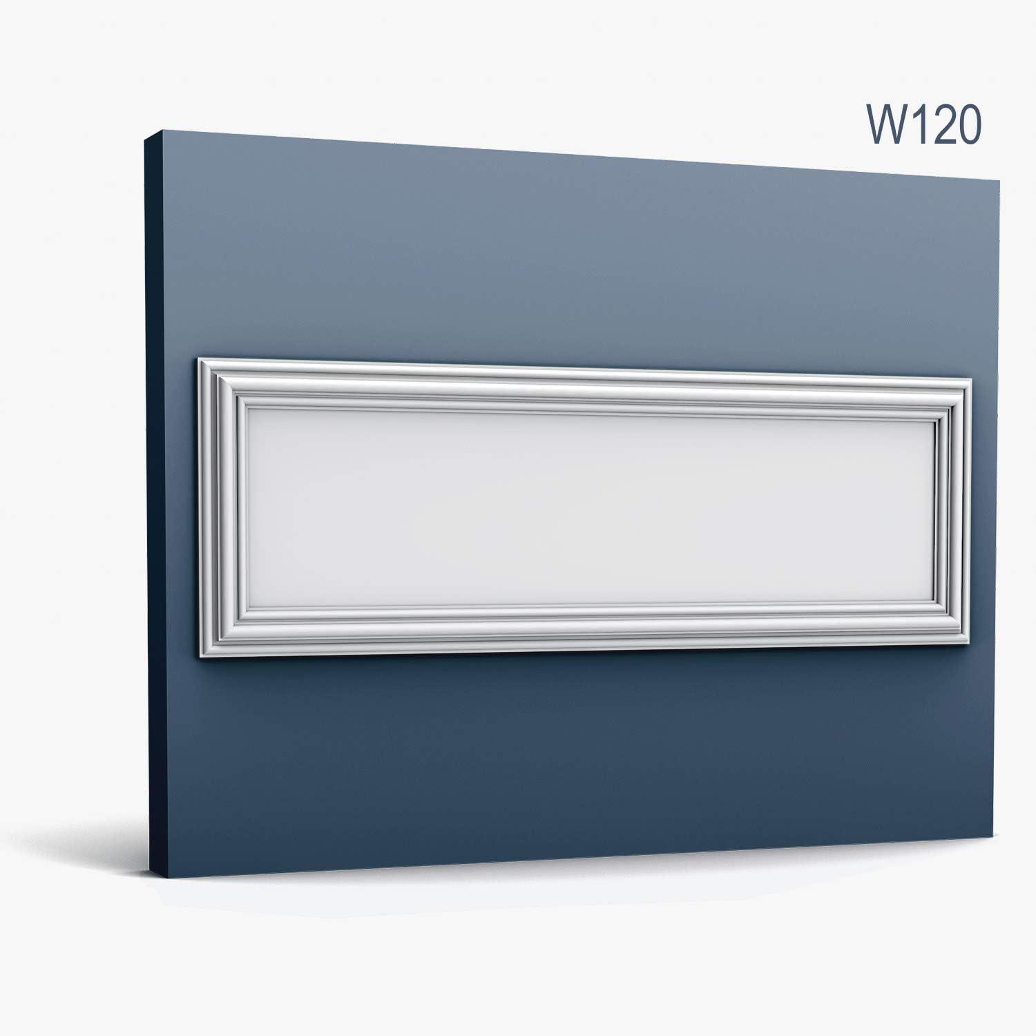 3d panneau mural Orac Decor W120 LUXXUS AUTOIRE Dalle pour mur et plafond /Élement d/écorative design intemporel classique blanc