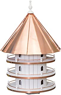 "product image for Saving Shepherd 36"" Purple Martin Copper Top Birdhouse - Large 12 Room Swallow 3 Story Bird Condo House Amish Handcrafted in Lancaster Pennsylvania USA"