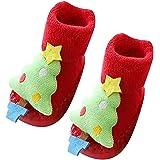aiuxuan Calzini natalizi in cotone per bambini Calzini natalizi in cotone natalizi per bambini