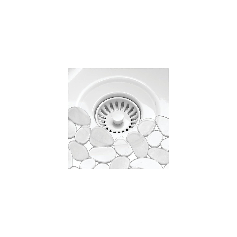 Glasses Black 15.75 Long 2 Pack Large Stemware Cushions Sinks Black MetroDecor 04180MDKEU Quick Draining Pebble Design 15.75 Long Soft Plastic Sink Protector mDesign Adjustable Kitchen Sink Dish Drying Mat//Grid 2 Pack Dishes