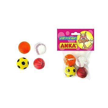 Chat Boutic Lote de 4 pelotas de espuma de juguete para gatos: Amazon.es: Productos para mascotas