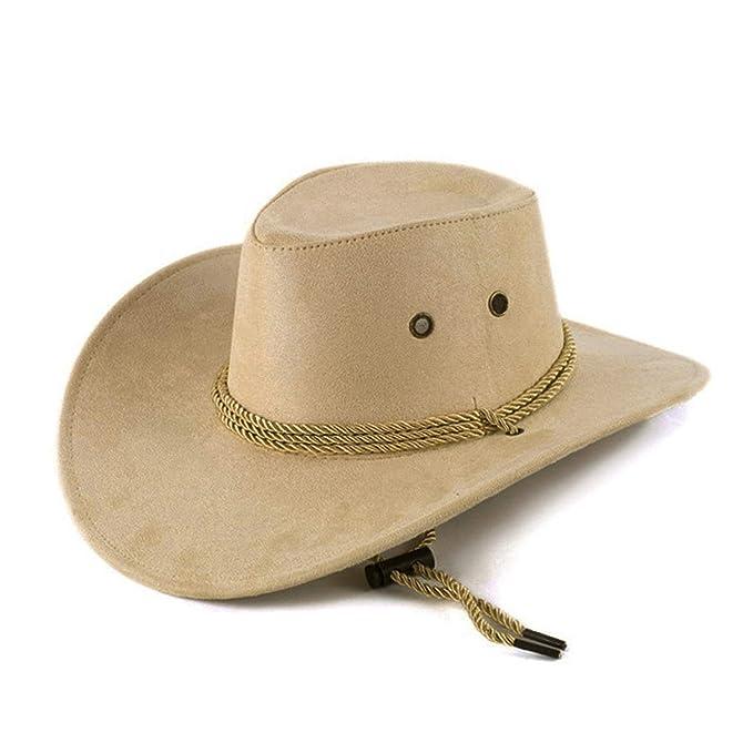 94835e523 Bokun Unisex Fashion Western Cowboy Hat Solid Tourist Cap Outdoor ...