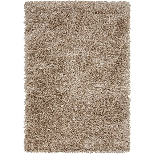 Surya Rhapsody RHA-1003 Shag Hand Woven 40% Wool / 40% Polyester Desert Sand 9' x 12' Area Rug