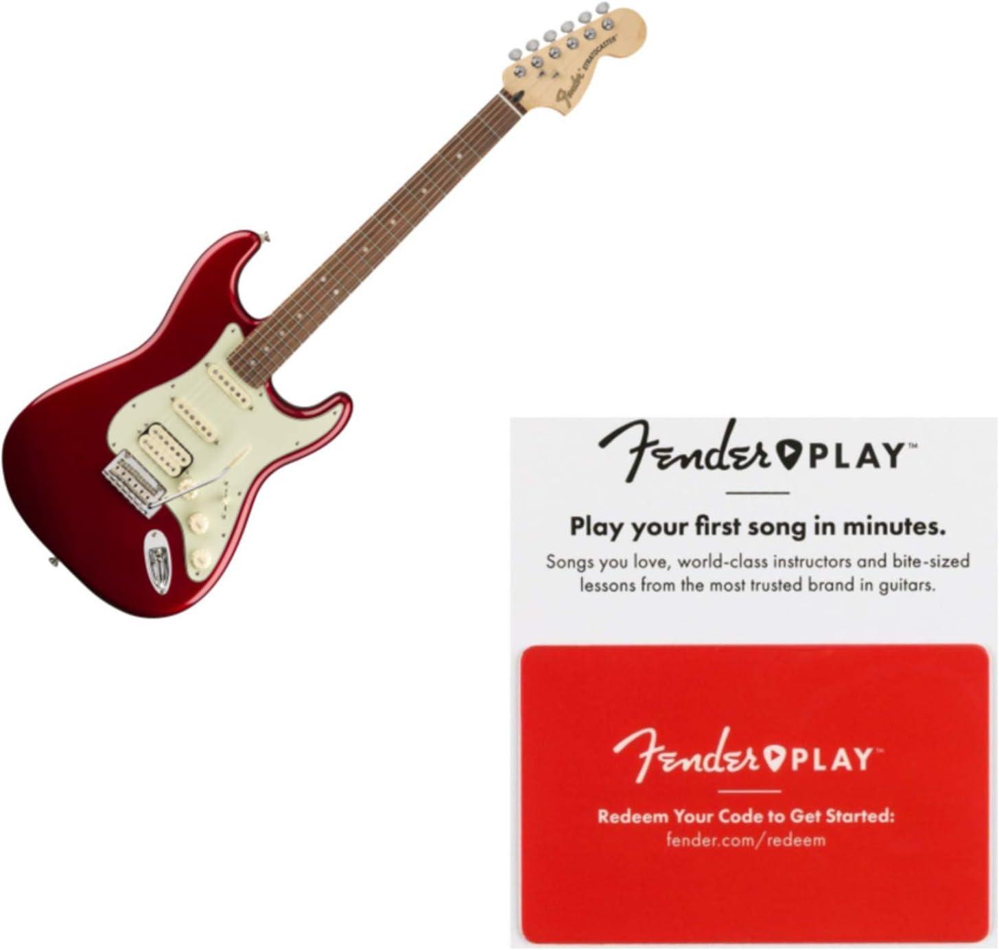 Fender Deluxe Stratocaster HSS Pau Ferro FB Candy - Guitarra roja ...