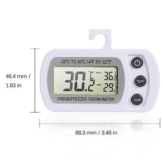 Compra arrowhunt Digital nevera congelador Termómetro, pantalla ...