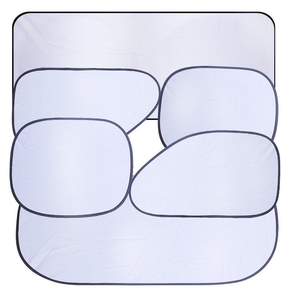 6 piezas Set Incluido una Bolsa Demarkt Parasoles para Coche Anti Rayos UV de Coche Parasol Parabrisas Delantero Ventana Lateral Trasera Parabrisas