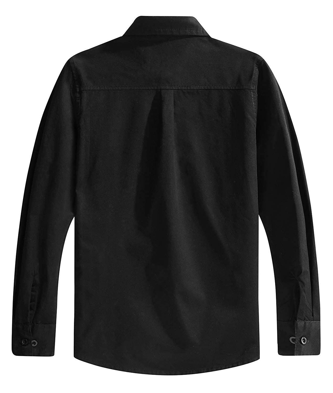 3-14 A/ños Spring/&Gege Chicos Manga Larga Abotonar Camisa para Ni/ño