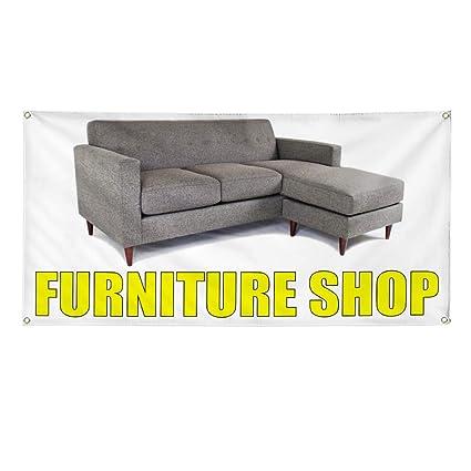 Amazon.com : Vinyl Banner Sign Furniture Shop Retail ...