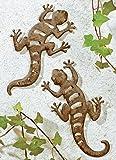 Wanddekoration metall wanddeko salamander wandobjekt - Wanddeko eidechse ...
