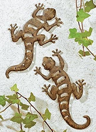 Wenko Set Wanddekoration Wanddeko Deko Dekoration Gecko Eidechse ...