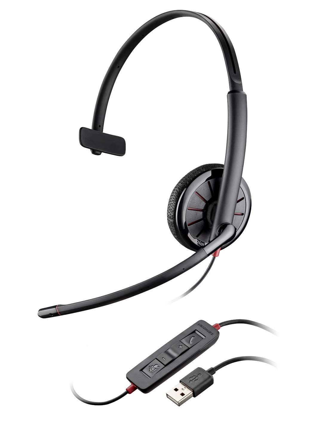 Plantronics Blackwire 325 USB Headset, On-Ear Mono Headset, Wired 204446-102