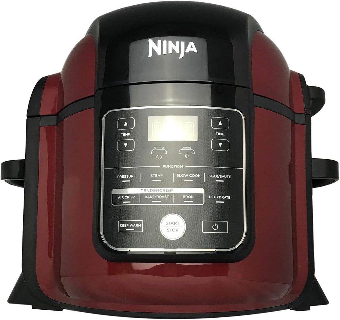 Ninja Foodi Pressure Cooker TenderCrisp Technology 8- Quart Pot Capacity Air Crisp Sear Sauté Bake Broil Steam Slow Cook Dehydrate All in One OP402 (Renewed) (Cinnamon)