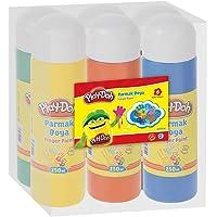 Parmak Boyası 6 Renk 250 ml Set (Shrink)