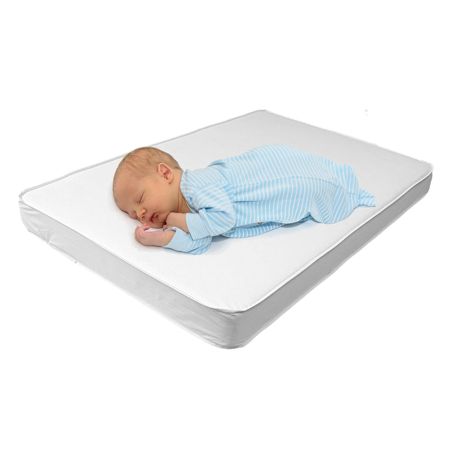 Babydoll Bedding Bassinet Mattress - Size: 13x29x2, white 009243064848