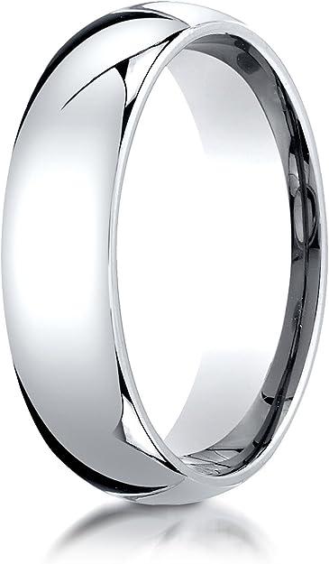 Benchmark 14K White Gold 2mm Slightly Domed Standard Comfort-Fit Wedding Band Ring Sizes 4-15