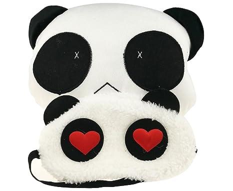 Amazon.com: Cute Cartoon Panda Blanco Y Negro Con Los Ojos ...