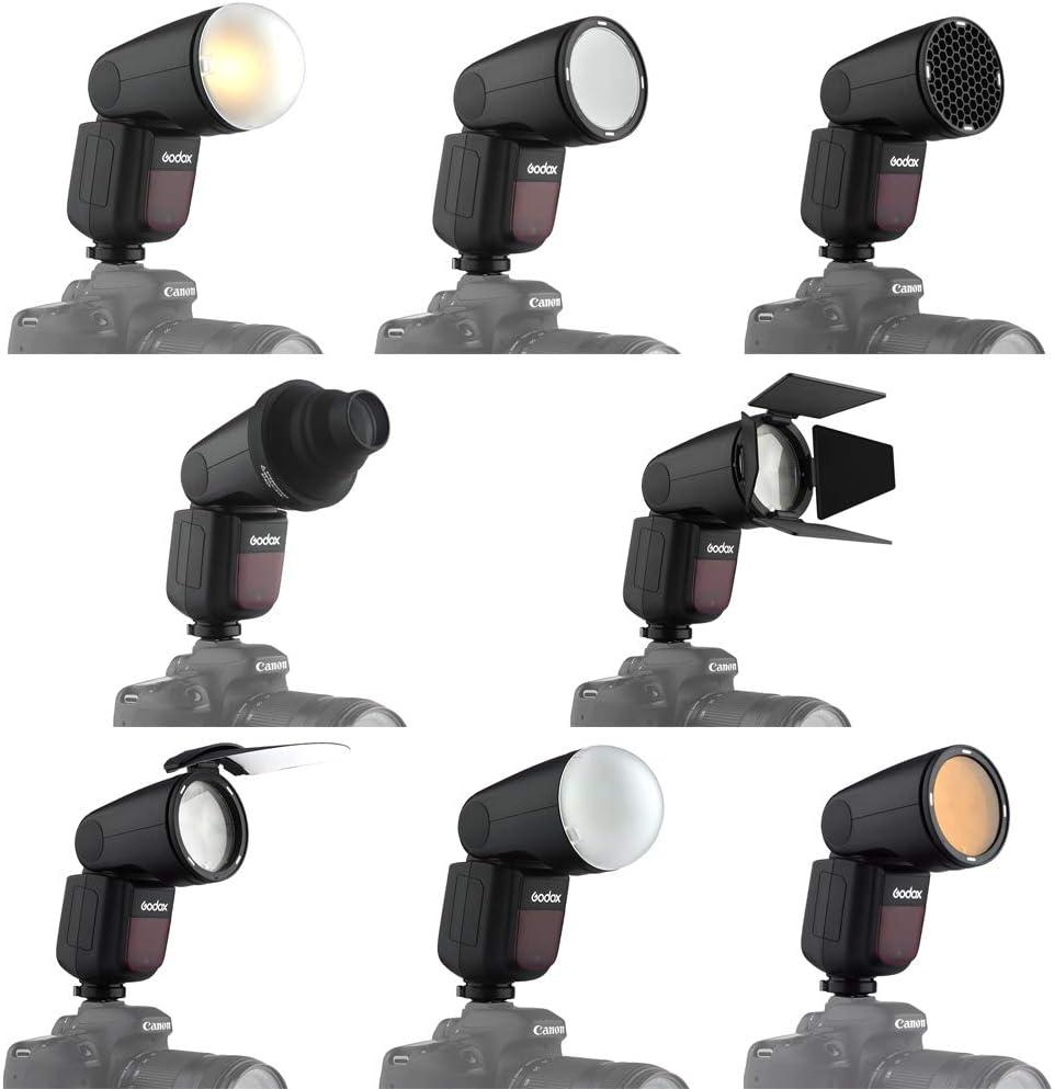 Godox V1-C Flash for Canon TTL 2.4G 76ws Camera Flash Speedlite with Godox AK-R1 Accessories Kit