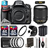 Holiday Saving Bundle for D610 DSLR Camera + 18-140mm VR Lens + 64GB Class 10 Memory Card + 2yr Extended Warranty + 32GB Class 10 Memory + Backup Battery + Macro Filter Kit - International Version