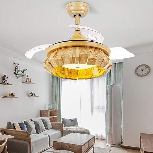 Ventilador de techo con iluminación, ventilador LED de ventilador ...