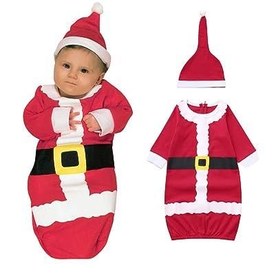 MYONA 2 Piezas Traje de Navidad Bebé, Saco de Dormir Mameluco de ...