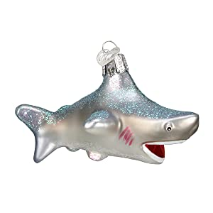 Old World Christmas Ornaments: Shark Glass Blown Ornaments for Christmas Tree