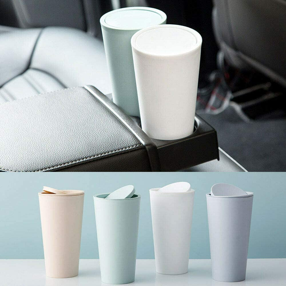 Car Garbage Can,Car Trash Can,Desktop Garbage Can,Mini Trash Rubbish Bin with Lid for Car Office Room Living Room