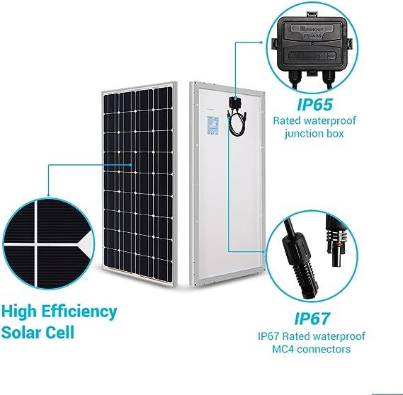 Module Solaire 100 Watt Mono Panneau avec Certificat Tüv Cellules 100 Neuf