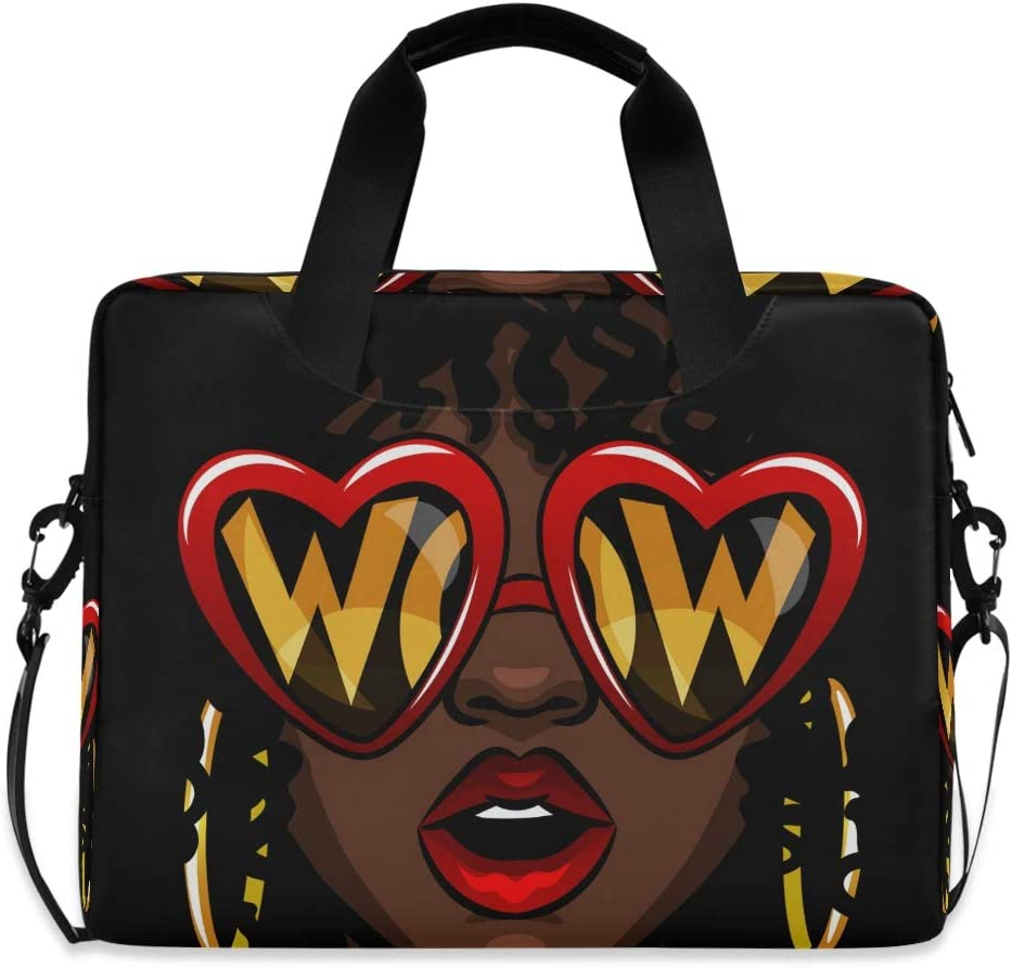 MAHU Laptop Case Bag Cool African American Women Laptop Sleeves Briefcase 13 14 15.6 inch Computer Messenger Bag with Handle Strap for Women Men Boys Girls