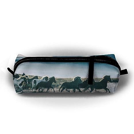 Estuche para lápices de caballo de correr, con cremallera ...