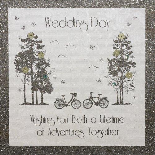 """ Wedding Day"" Handmade Wedding Card - A3 FIVE DOLLAR SHAKE"