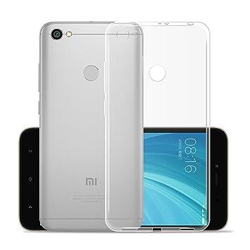 IJIA Funda para Xiaomi Redmi Y1 / Redmi Note 5A Prime Transparente TPU Silicona Suave Cover Tapa Caso Parachoques Carcasa Cubierta para Xiaomi Redmi ...
