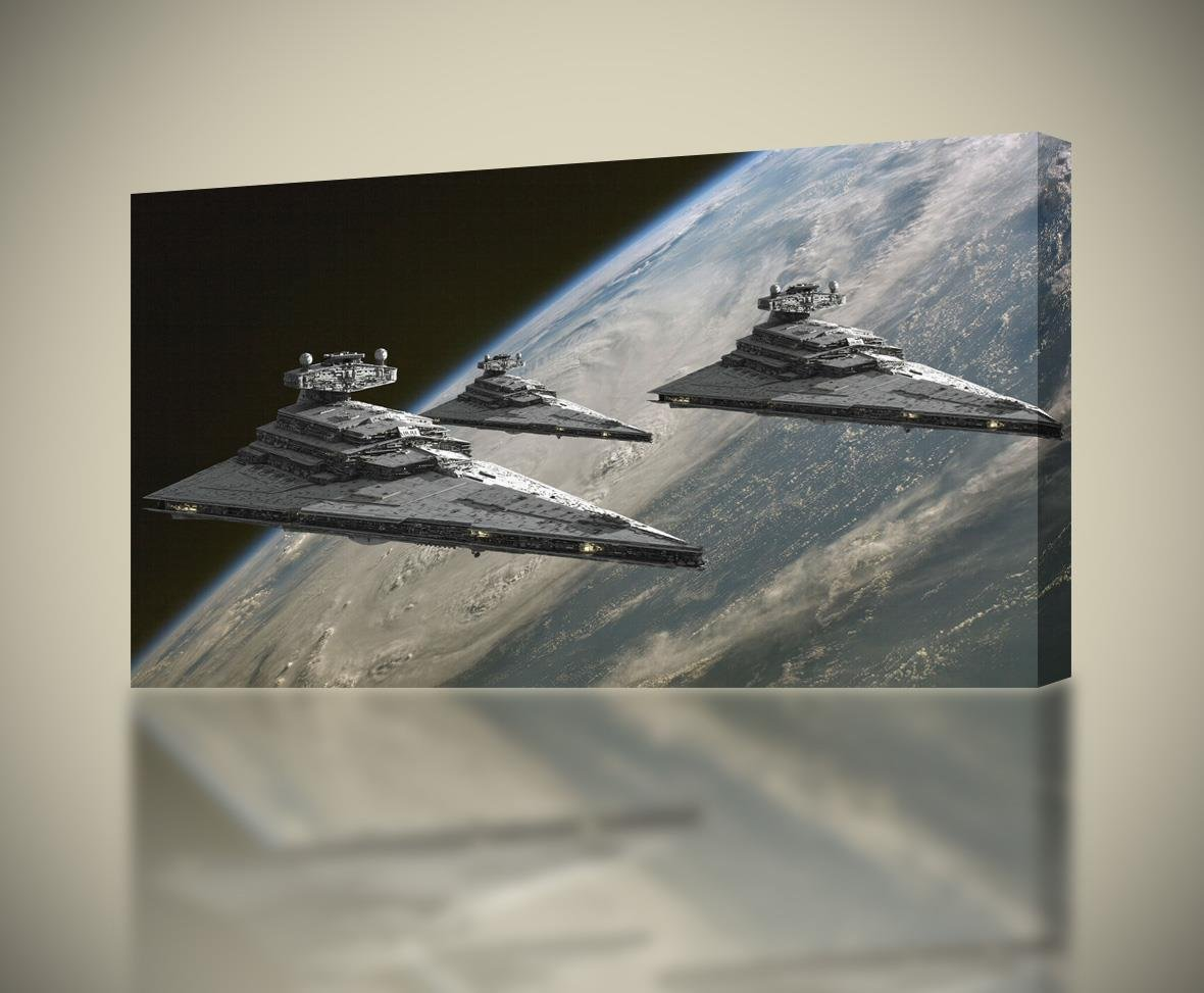 Amazon.com STAR WARS Star Destroyer Ship CANVAS PRINT Wall Art Decor Giclee4 Sizes CA113 Large Posters u0026 Prints & Amazon.com: STAR WARS Star Destroyer Ship CANVAS PRINT Wall Art ...