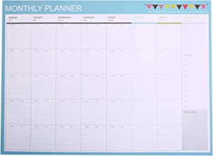 Phyxin Monthly &Weekly Planning Pad, Undated Make-A-List Calendar Desk Pads, 20 Sheets, Easy Page Tear-Off,11.2