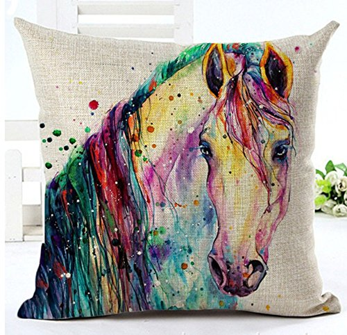 LYNZYM Cotton Linen Square Throw Pillow Case Decorative Cushion Cover Pillowcover for Sofa 18