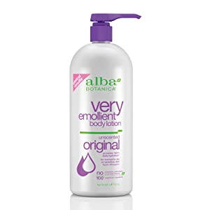 Alba Botanica Very Emollient, Unscented Body Lotion, 32 Ounce