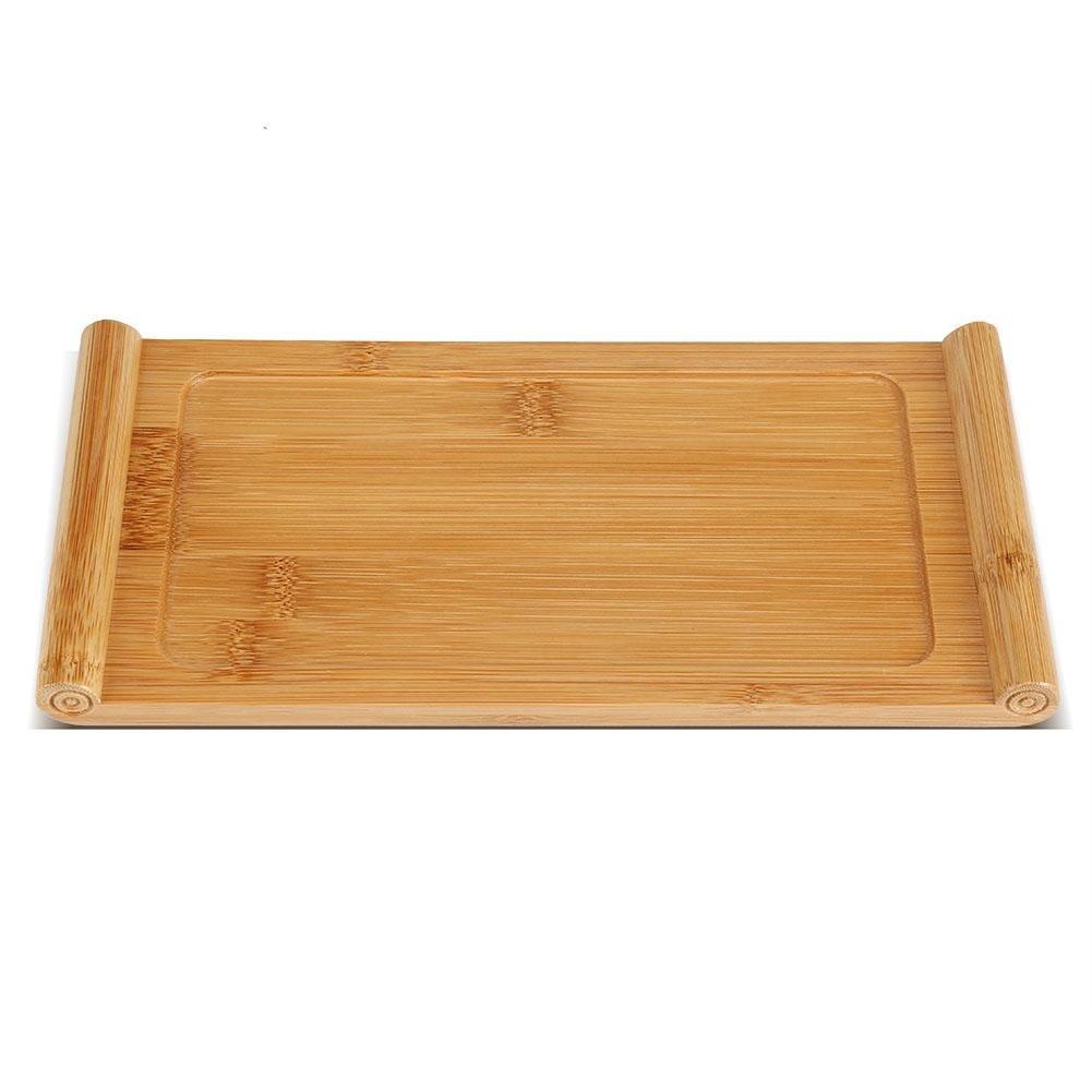 Dessert 26,5 x 12,9 x 1,8 cm Kaffee Teetablett,Asixx Chinesischen Kungfu Tee Tablett aus Bambus mit Glatter Oberfl/äche f/ür Snack