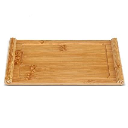 Bandeja de Té de Bambú Bandeja de Té Chino Portátil Gongfu Clásico Juego de Té para