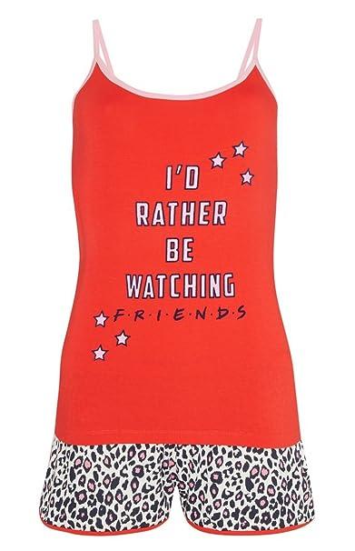 PRIMARK FRIENDS - Pijama - para Mujer Rojo Rosso M