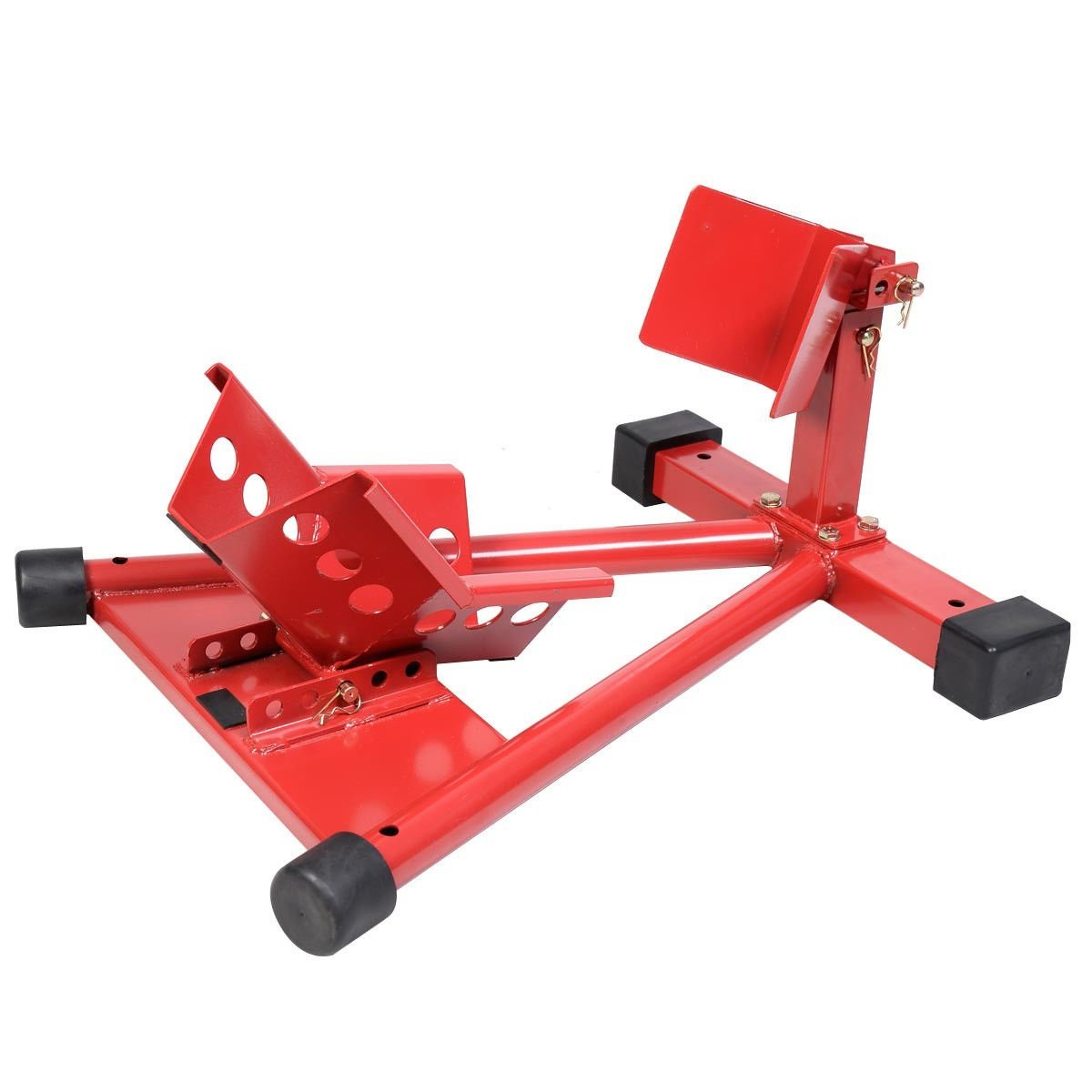 1500LB Motorcycle Transporting Wheel Chock Stand Security